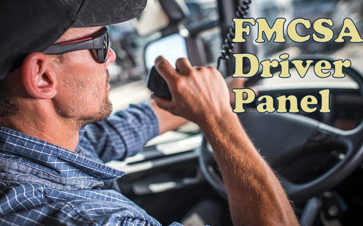 FMCSA driver panel