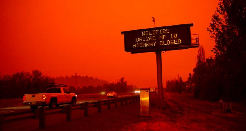 Canada and Oregon road closures