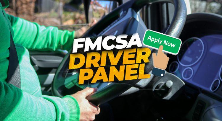 FMCSA driver panel application