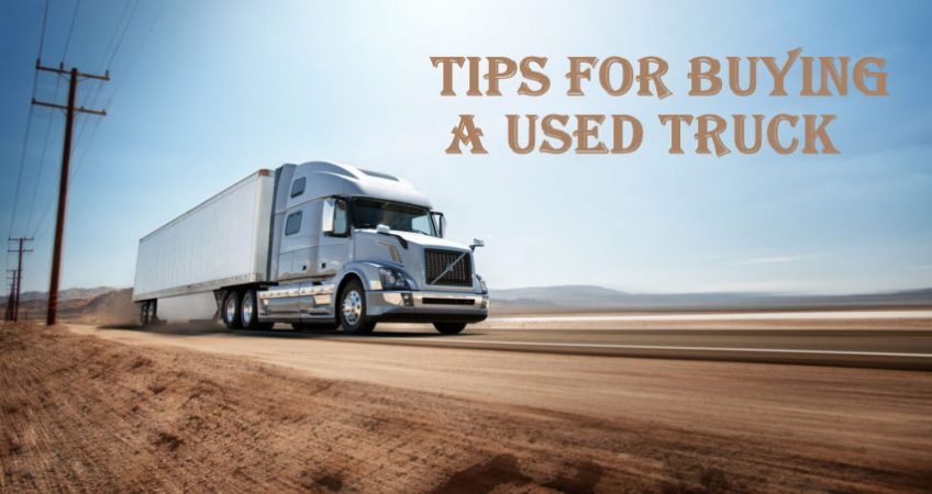 Tips for buying a used truck